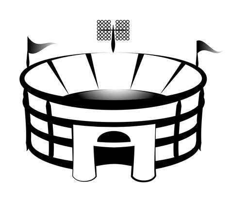 football stadium clipart black and white football stadium clip cliparts co