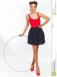 Teen Girl With Hula Hoop Stock Photo - Image: 51123229