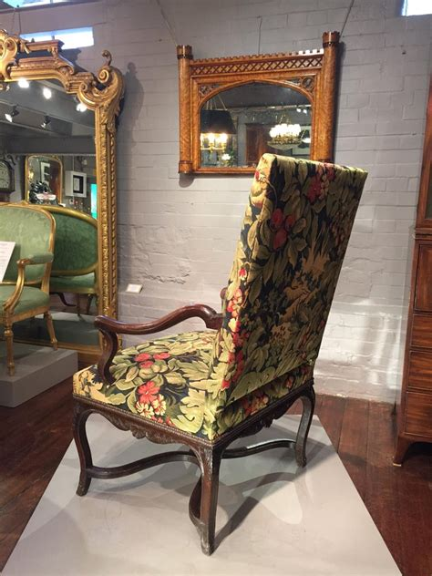 Inspired by the 18th century british gentlemen chair or vintage 1960's all are manufactured with the ancient technics to achieve a commitment to comfort and design fulfilling a series of identifying situations in our homes. 18th Century French Oak and Upholstered High Back Open ...