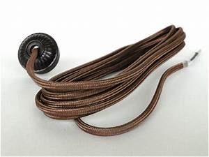 Replacement Lamp Cord Rayon Covered With Bakelite Round Plug 10 U0026 39  Wire Parts