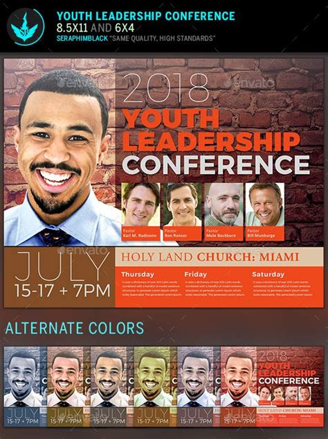 youth leadership conference flyer template photoshop psd