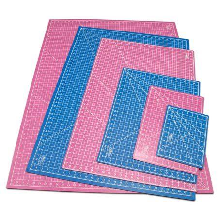 self healing cutting mat 24 quot x 36 quot pink blue self healing 5 ply sided