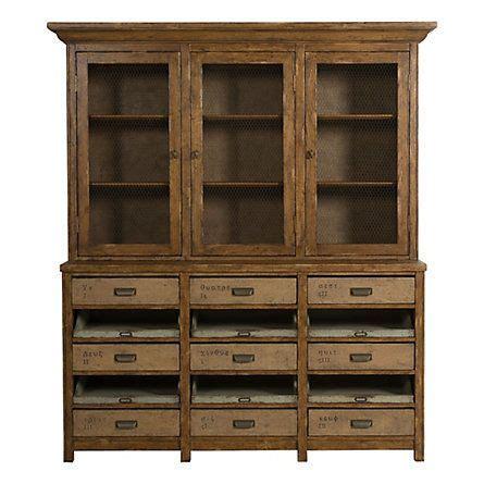 oak burlap hutch  terrain vanguard furniture