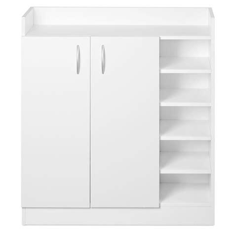 White Storage Cupboard With Doors by 2 Doors Shoe Cabinet Storage Cupboard White