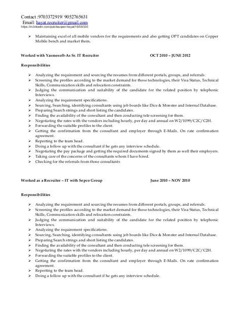 Accenture Resume Status by Hayat It Recruiting Resume