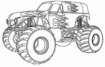 Truck Coloring Pages Semi Monster Daring Printable