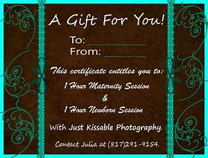 kissing blogging what39s new with just kissable With photoshoot gift certificate template