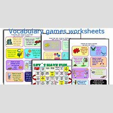 English Teaching Worksheets Vocabulary Games