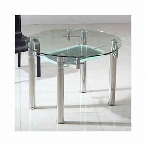 Table Bois Verre Extensible