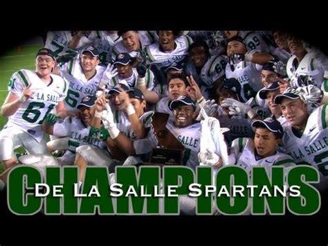 de la salle high school de la salle spartans king of california high school football america