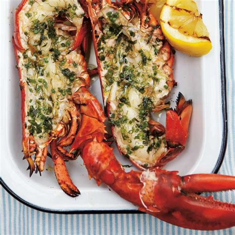 cuisine langouste plancha homard grillé aux herbes ricardo