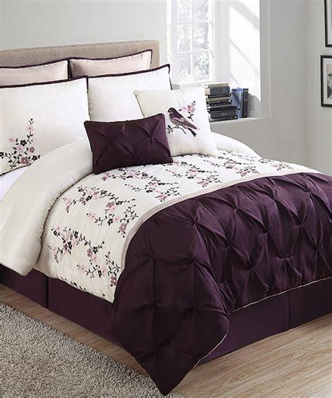 plum ivory lydia comforter set modern comforters and