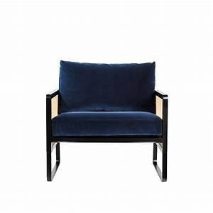 Fauteuil Bleu Marine : fauteuil cannage velours bleu marine arne concept ~ Teatrodelosmanantiales.com Idées de Décoration