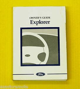 explorer suv   ford owners owners manual  models