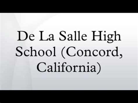 de la salle ca de la salle high school concord california