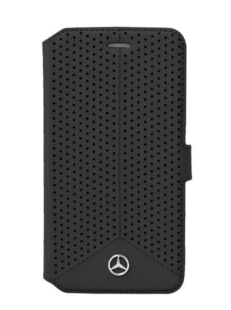 Mercedes Etui Folio Perfore Cuir Noir Apple Iphone 6/6s