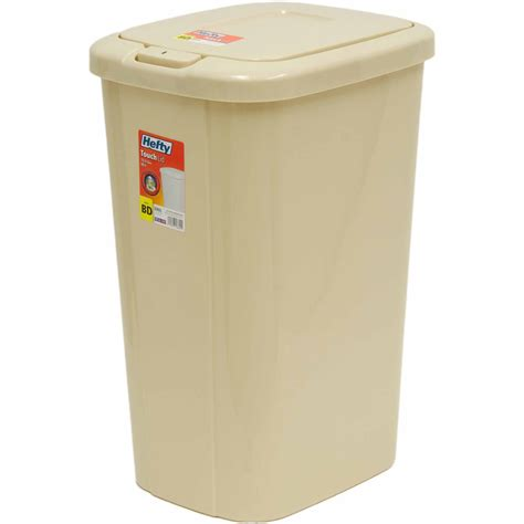 rubbermaid linerlock spring top trash   gal black walmartcom