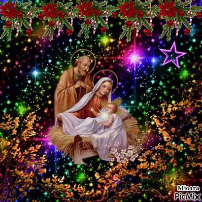 Christmas Nativity Jesus Gifs Holy Joseph Merry