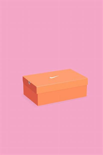 Box Nike Shoe Drawing Shoebox Getdrawings