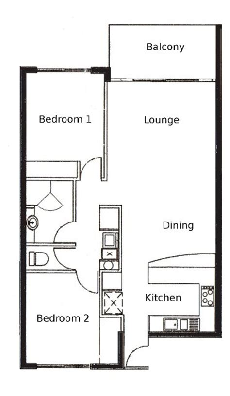 2 Bedroom Apartment Floor Plan by 2 Bedroom Apartments Palm Cove Tropic Apartments