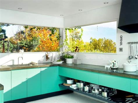 ideas     turquoise   kitchen