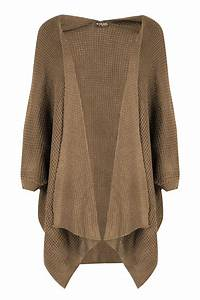Womens Baggy Open Cape Cardigan Ladies Knit Batwing ...