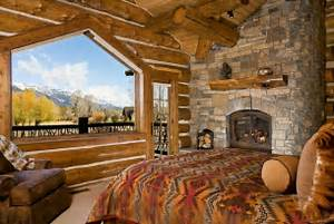 Rustic Bedroom Design Idea Canadian Log Home Rustic Decorating Ideas For Party, Wedding, And House