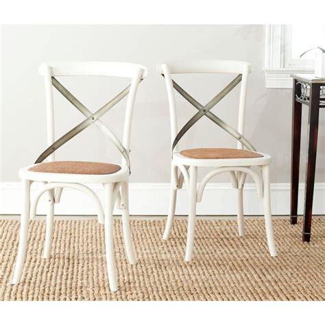 safavieh eleanor ivory x back side chair set of 2