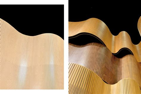 curve wall wavy acoustic ply project