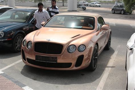 Gold Bentley Continental Gtc Super Sport In Dubai Youtube