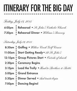 26 wedding itinerary templates free sample example With wedding day of itinerary template
