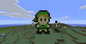 "Link ""Zelda"" Pixel Art Minecraft Project"