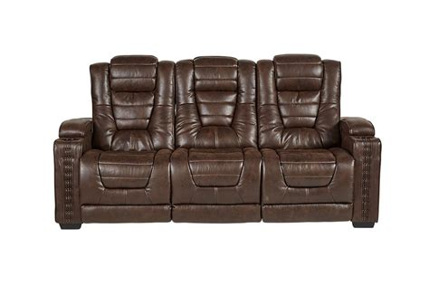 reclining sofa with drop down table highway to home power reclining microfiber sofa with drop