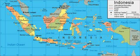 indonesia map  satellite image