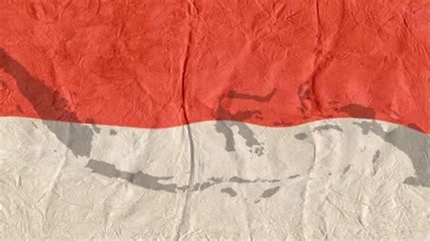 background animasi bendera merah putih peta