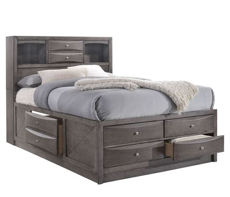 Bookcase Storage Bed by Emily Bookcase Storage Bed Grey Elements Furniture