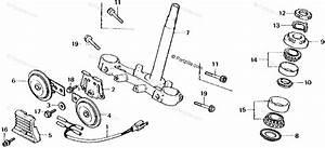 Honda Motorcycle 1980 Oem Parts Diagram For Steering Stem