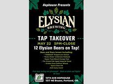 Elysian Brewing Night 15th Avenue Hophouse – BREWPUBLICcom