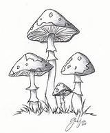 Mushrooms Mushroom Drawings Lil Drawing Cartoon Deviantart Simple Sketch Line Coloring Pages Weed Clipart Cool Magic Kifest�koenyv Rajzok Doodle Stamps sketch template