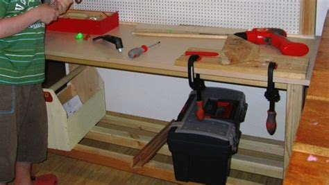 workbench pine laminated top pegboard finewoodworking