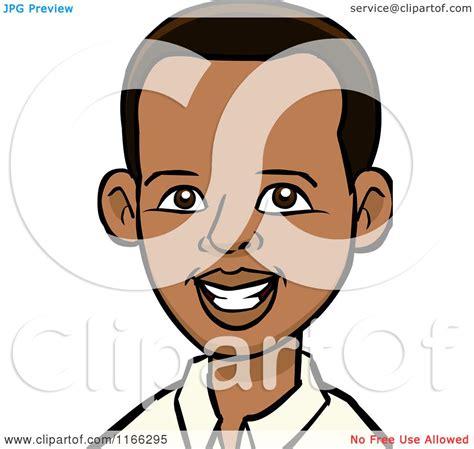 Cartoon Of A Young Black Man Avatar Royalty Free Vector