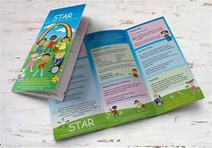 Star Diversity Illustrations  U0026 Trifold Leaflet Design And