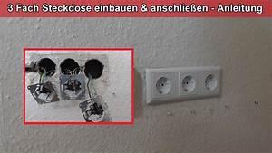 Verteilerdose Anschließen Anleitung : 3 fach steckdose einbauen anschlie en ausrichten anleitung ~ Watch28wear.com Haus und Dekorationen