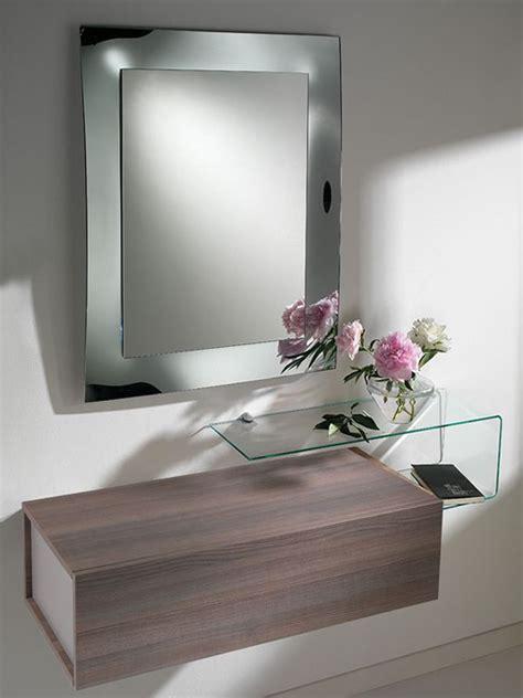 mensola ingresso due f mobile ingresso con due cassetti specchio e