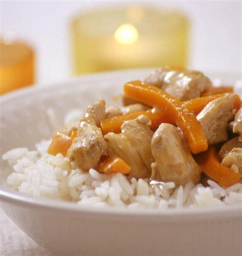 cuisiner magazine sauté de poulet aux carottes et au gingembre les