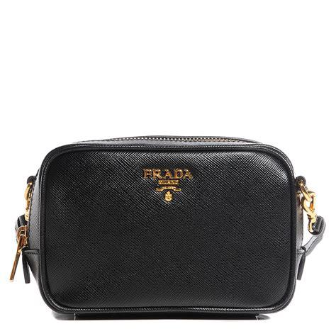 prada saffiano mini camera crossbody bag nero black
