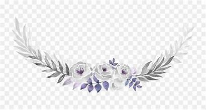 Purple Flowers Invitation Decoration Pattern Watercolor Watercolour