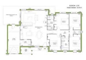 plan maison moderne toit plat plain pied mc immo