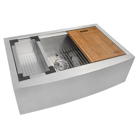 stainless apron front sink ruvati apron front stainless steel 30 in 16 gauge