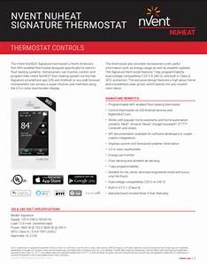 Signature Thermostat By Nuheat Floor Heating